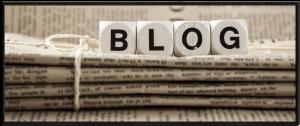 Letters spelling blog